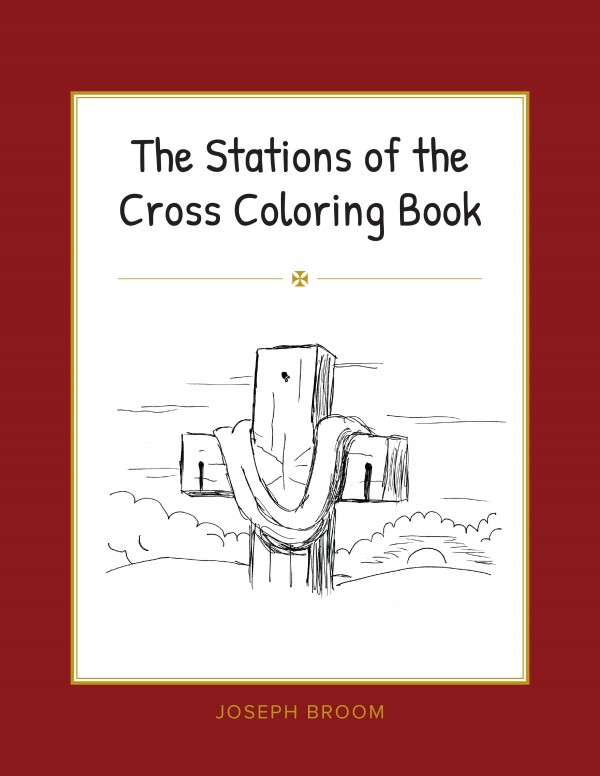 image relating to Stations of the Cross Prayers Printable called The Stations of the Cross Coloring Reserve