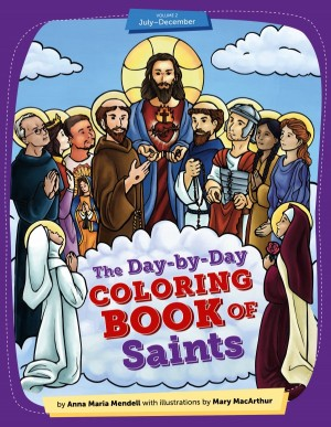 Day-by-Day Coloring Book of Saints v2 book cover