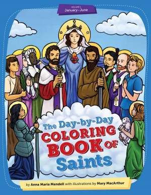 Day-by-Day Coloring Book of Saints vol1 book cover