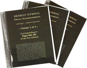 Brebeuf Hymnal Organ Accompaniment book cover