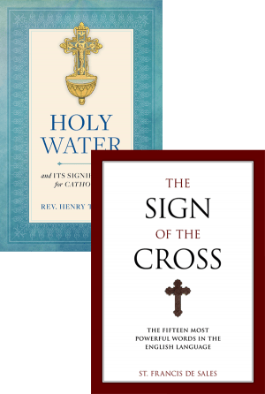 Holy Water and the Sign of the Cross Set bundle