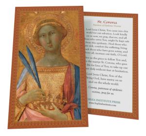 St. Corona Prayer Card Ten Pack book cover